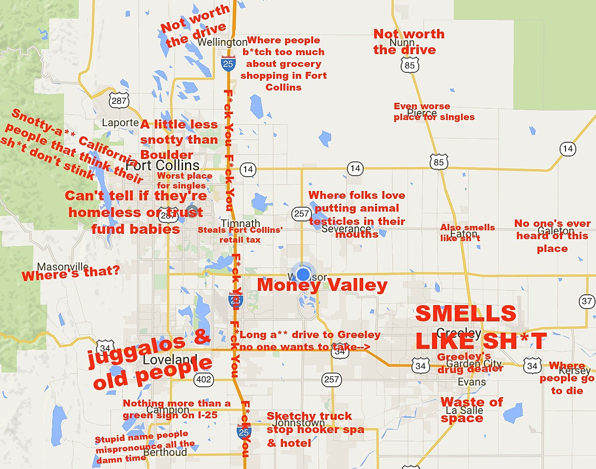 Google Colorado Map.Judgmental Map Of Northern Colorado