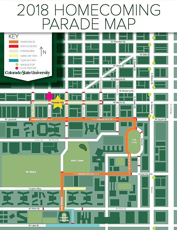 CSU Homecoming Parade Will Have New Route in 2018
