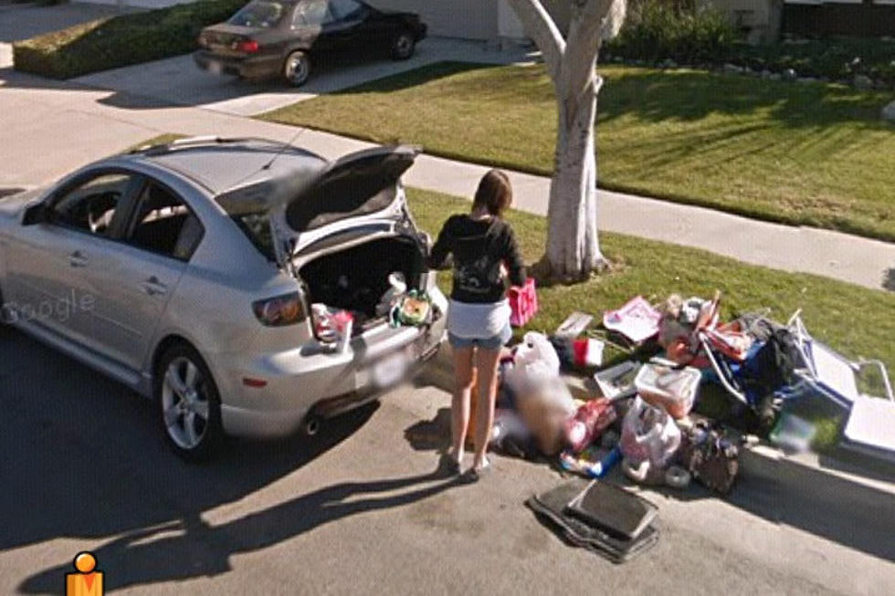 Google Street View Catches Girl Packing After Breakup