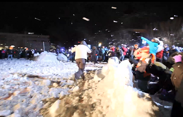 World Record Snowball Fight