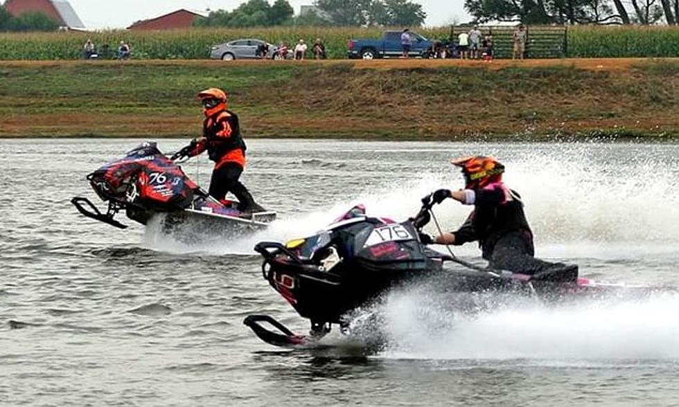 Snowmobile Races on Water