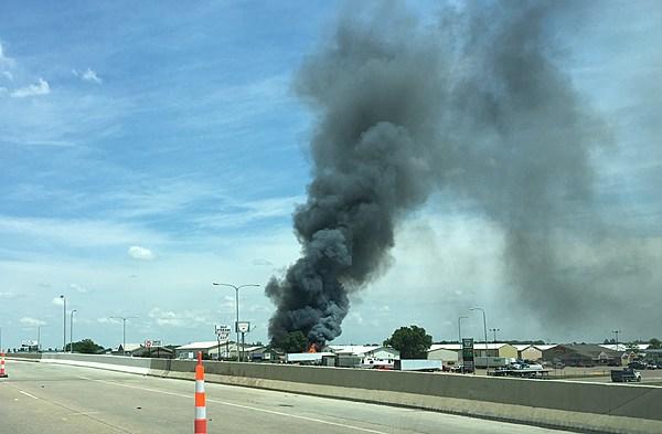 Fire Destroys Warehouse Near Tea Exit