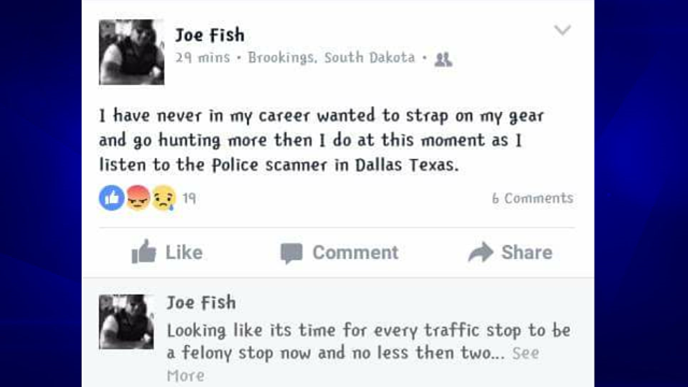 Brookings, SD Police Officer in Trouble over Facebook Comment