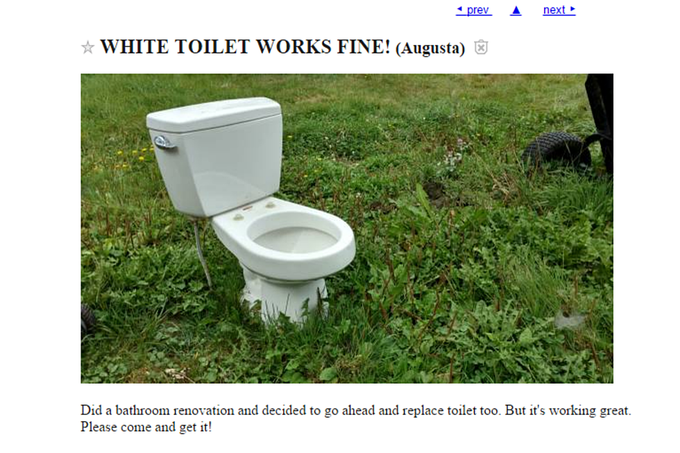 Crazy Stuff Available For Free In Maine On Craigslist