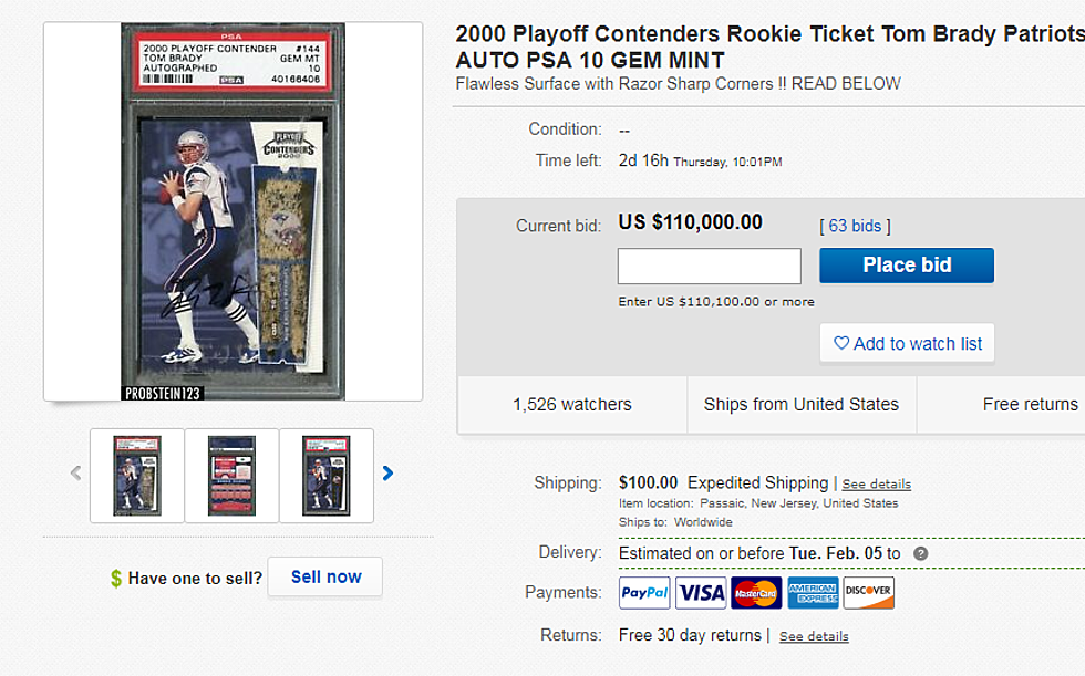 Tom Brady Rookie Card Selling For How Much