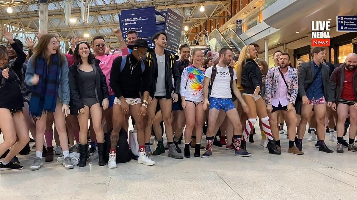The 2020 'No Pants Subway Ride' VIDEO