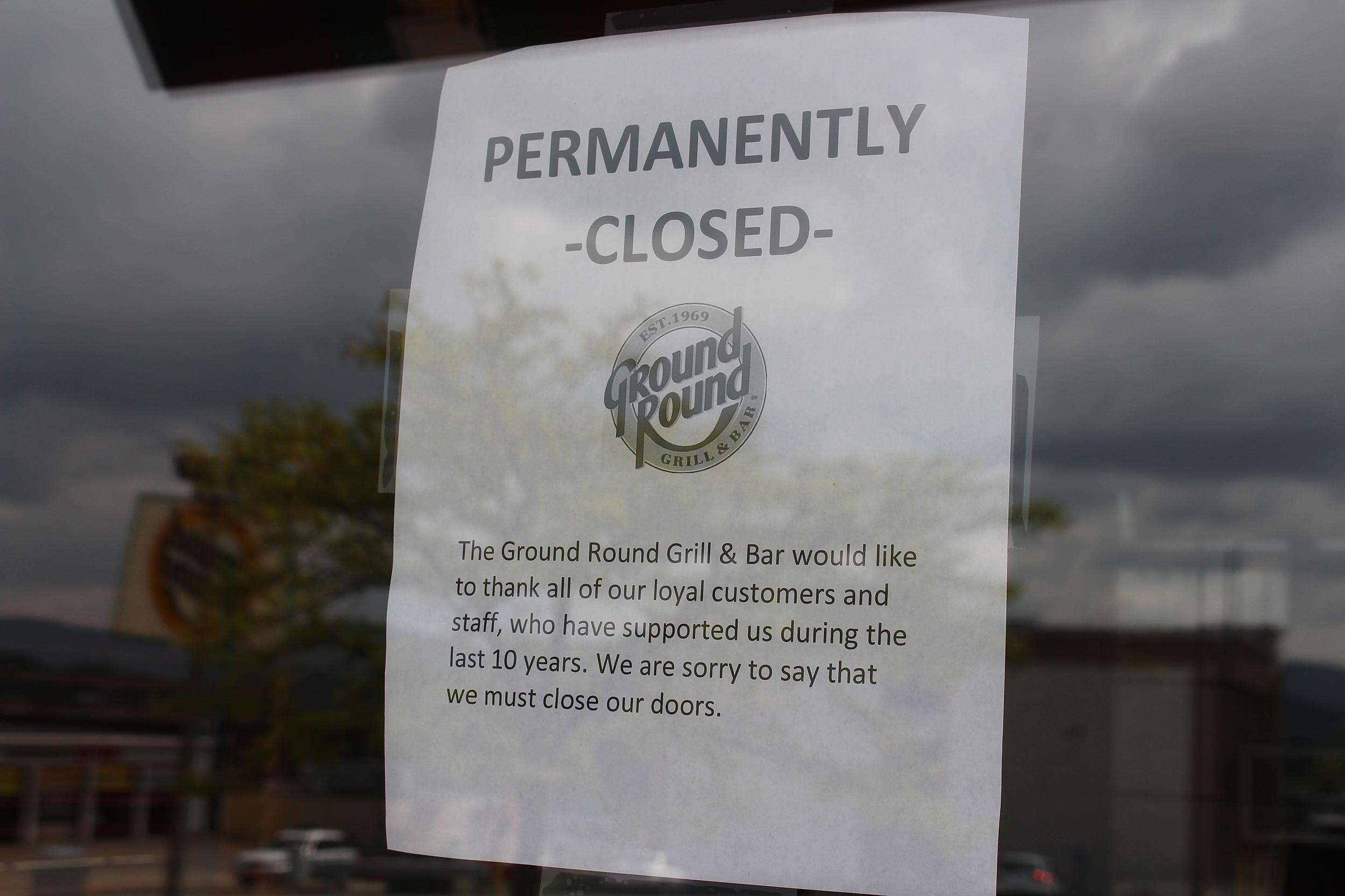 Shock Closing: JC Ground Round Restaurant Shuts Down