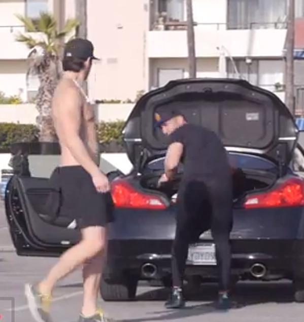 Man Wears Yoga Pants To Prank Guys