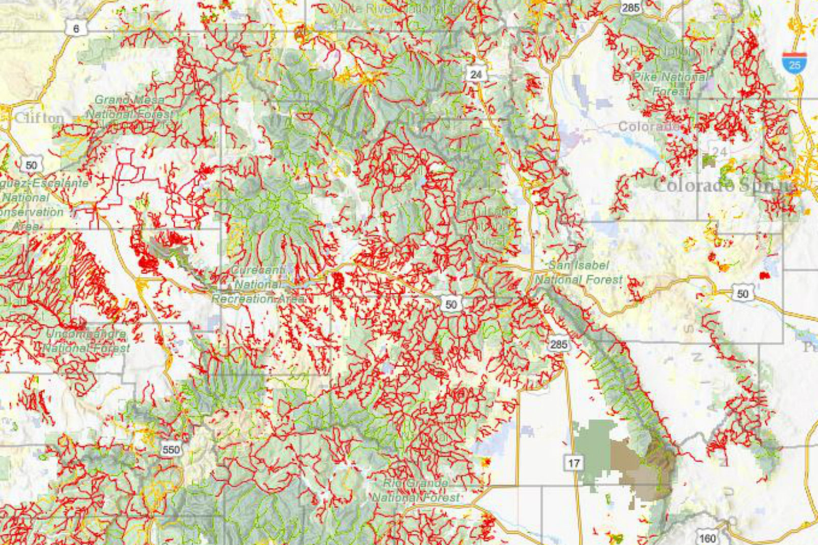 Rattlesnakes In Colorado Map.Amazing Map Shows 39 000 Miles Of Colorado Trails