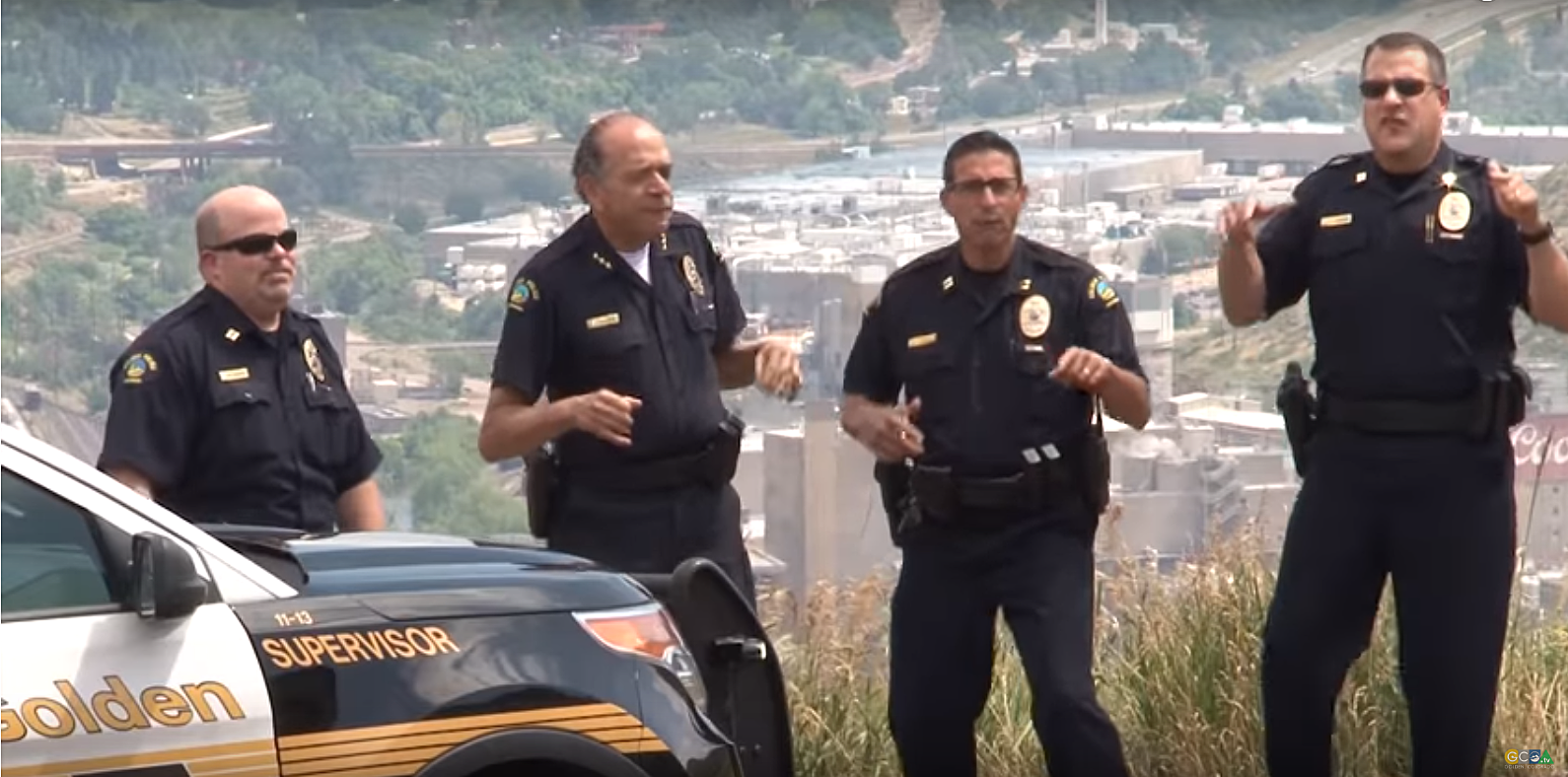 Golden Police Show Their Stuff in Lip Sync Challenge