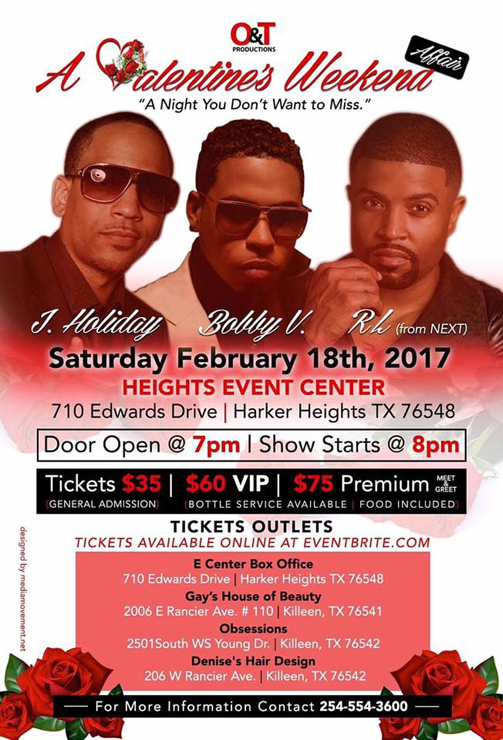 Weve Got Tickets To See J Holiday Bobby V Rl In Harker Heights