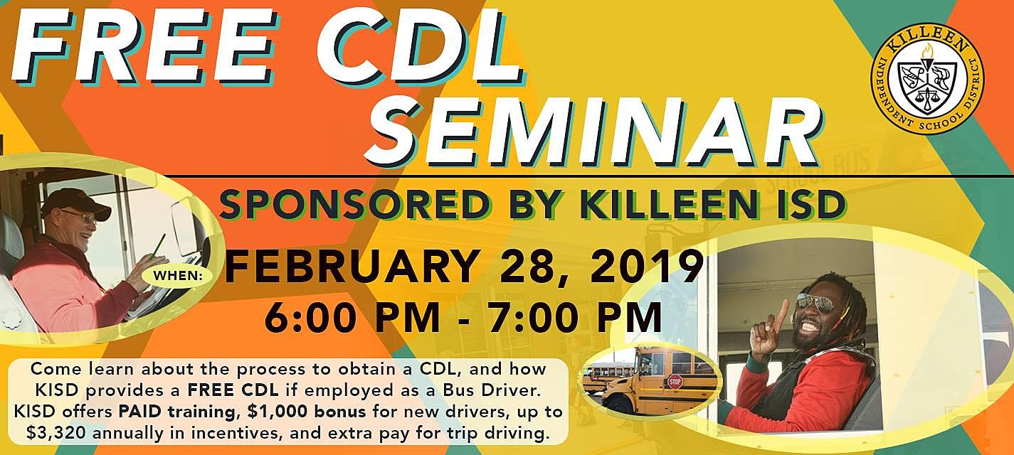 Killeen ISD Offering Free CDL Training Seminar This Thursday
