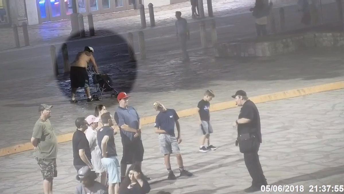 Texas Rangers Tackle Naked Man Streaking at the Alamo