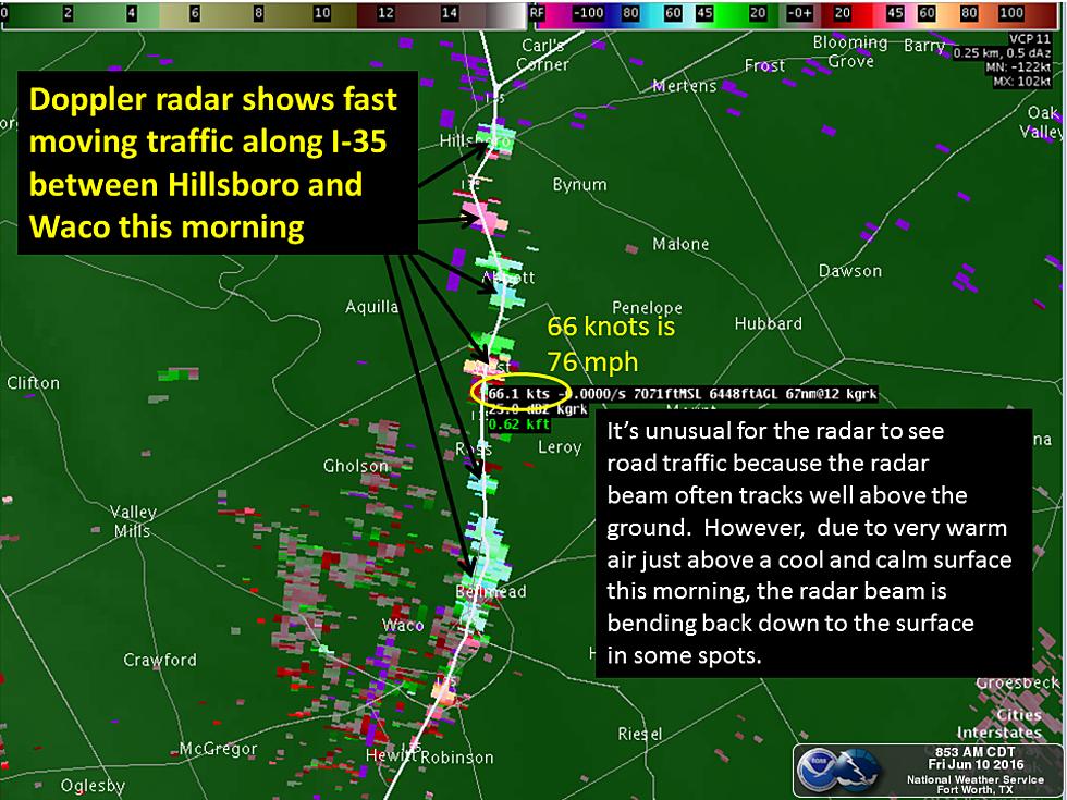Weather Radar Showing Traffic?