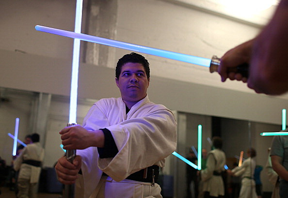 Star Wars Fans Train As Jedis In Lightsaber Class In San Francisco | Getty Images