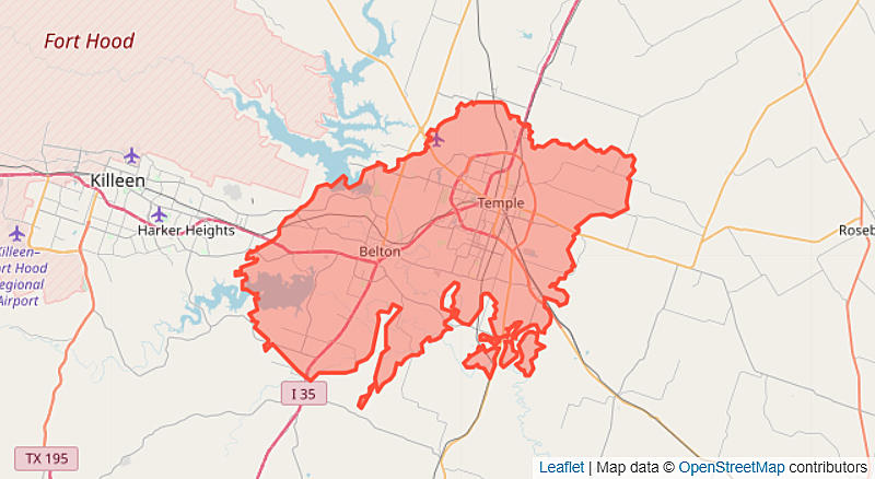 How Big Are California Wildfires Compared to Temple-Killeen?