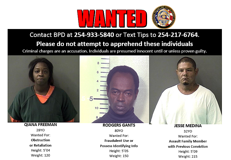 Belton Police Need Public's Help Finding Three Suspects