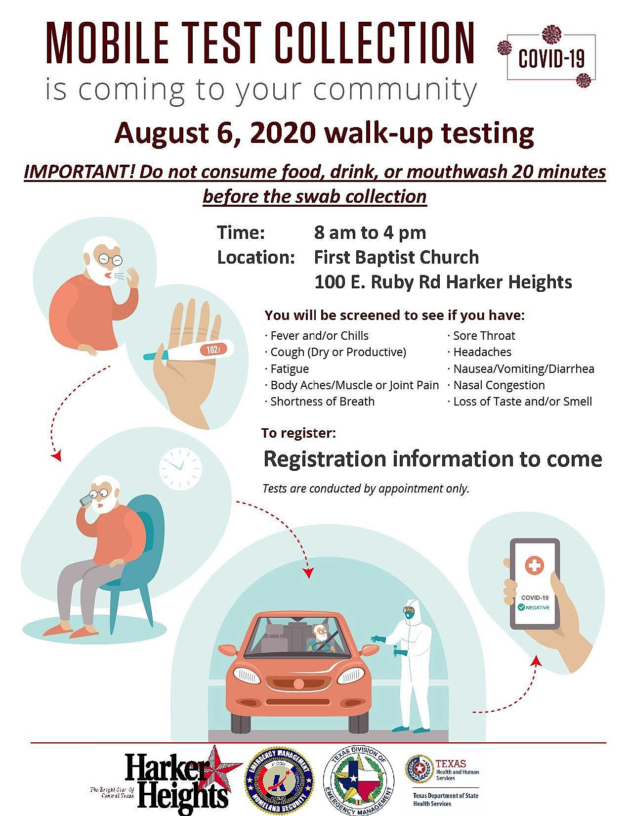 August 6 and 7 2020 COVID Testing Flyer_English and Spanish_Page_1