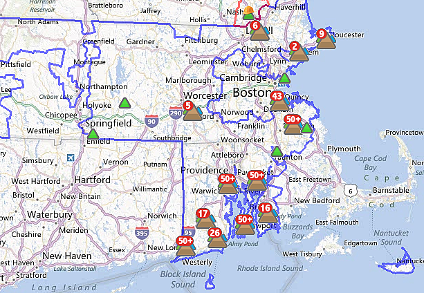 National Grid Power Outage Map National Grid Massachusetts Power Outage Map