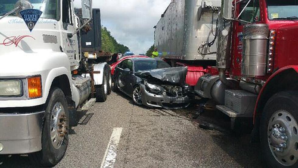 Car Crash On I-495 In Franklin
