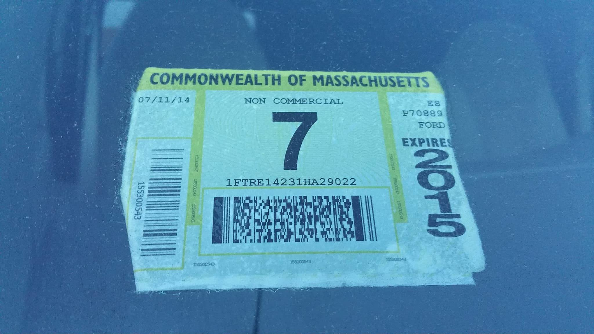 New Bedford Now Issuing Citations For Expired Inspection Stickers On