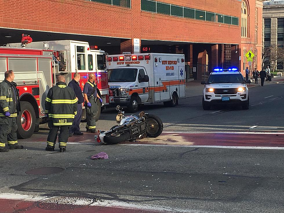 Motorcyclist Hospitalized After Crash in Downtown New Bedford