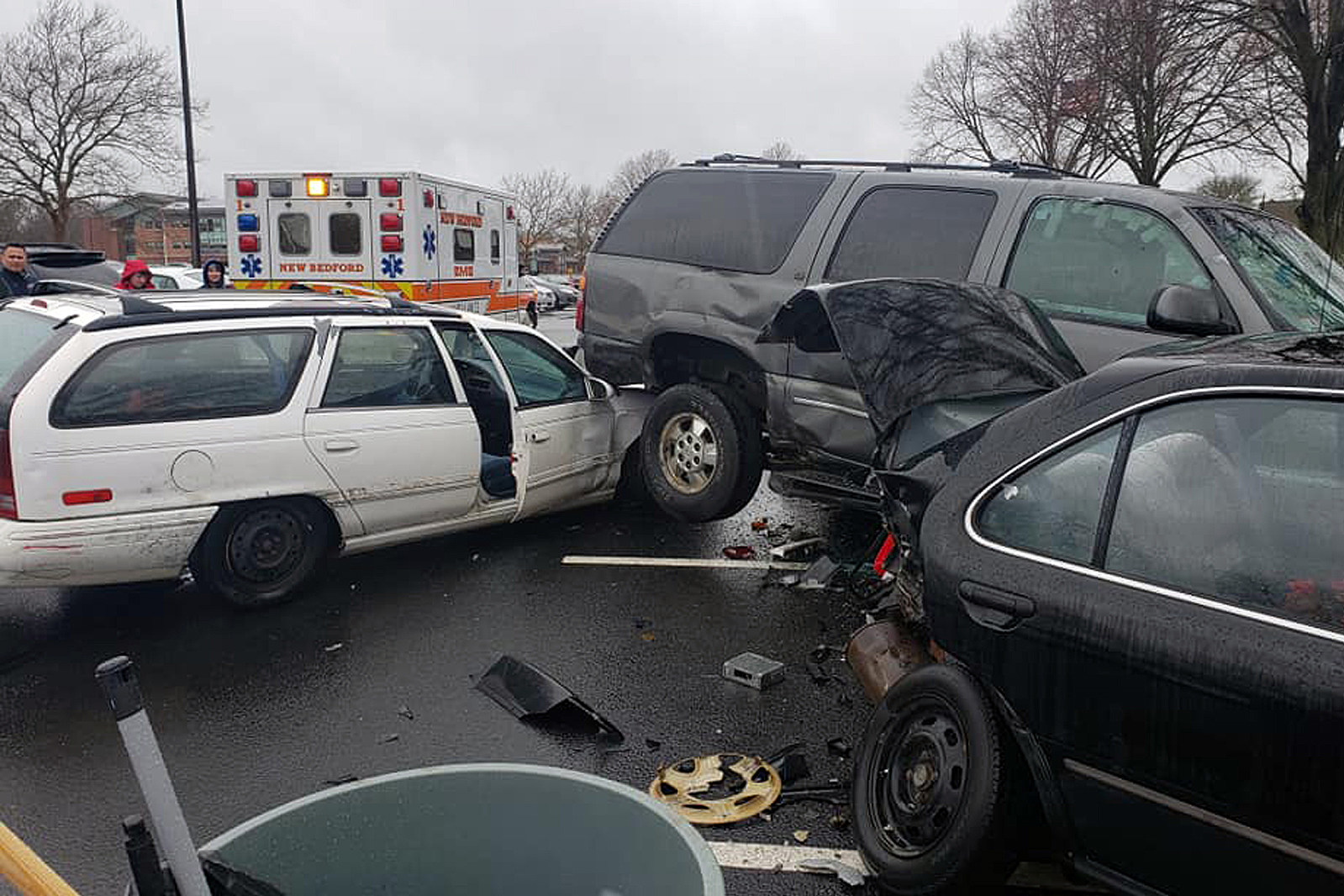 Multi-Car Crash at New Bedford High School Under Investigation