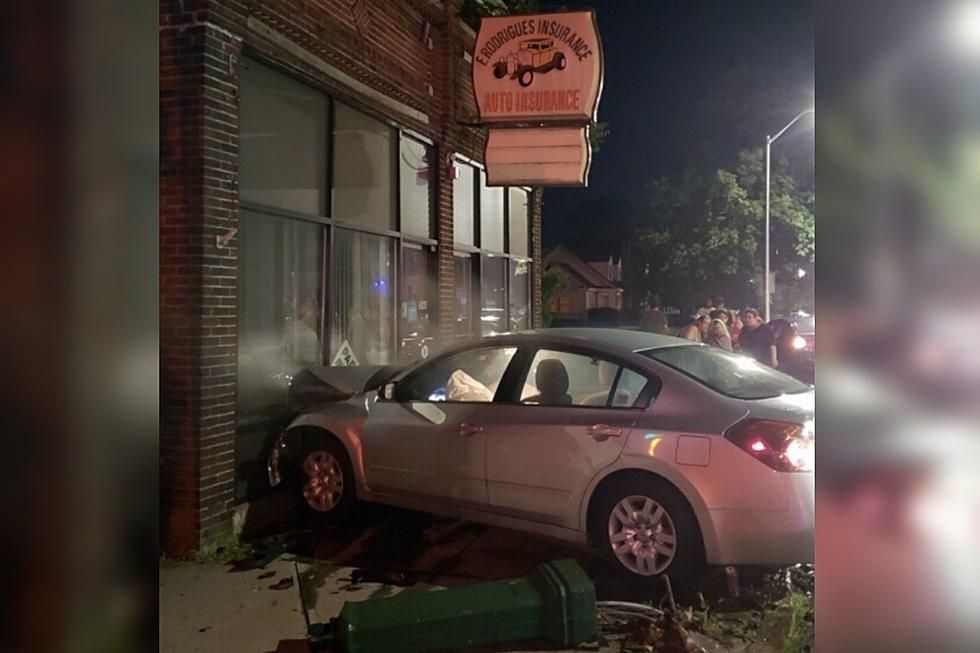 Car Crashes into New Bedford Auto Insurance Agency