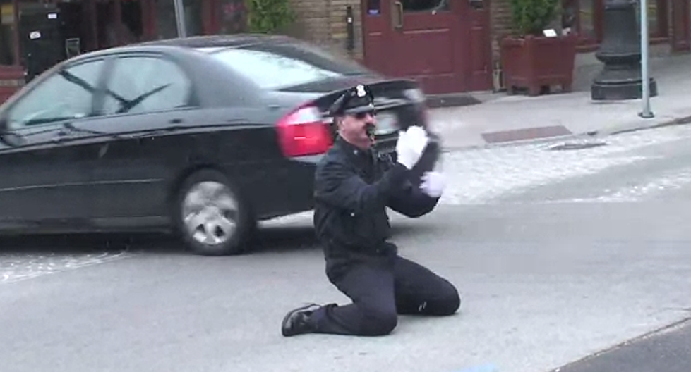 Providence Cop Dances While Directing Traffic