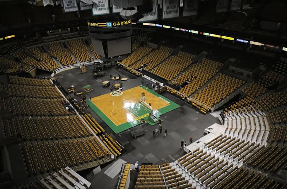 Td Boston Garden Changes From Ice To Parquet Floor Video