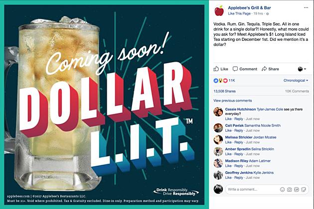 applebees dollar drink december 2020