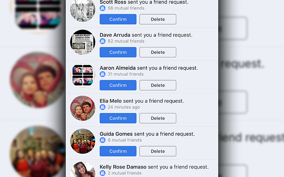 Get friends request on facebook