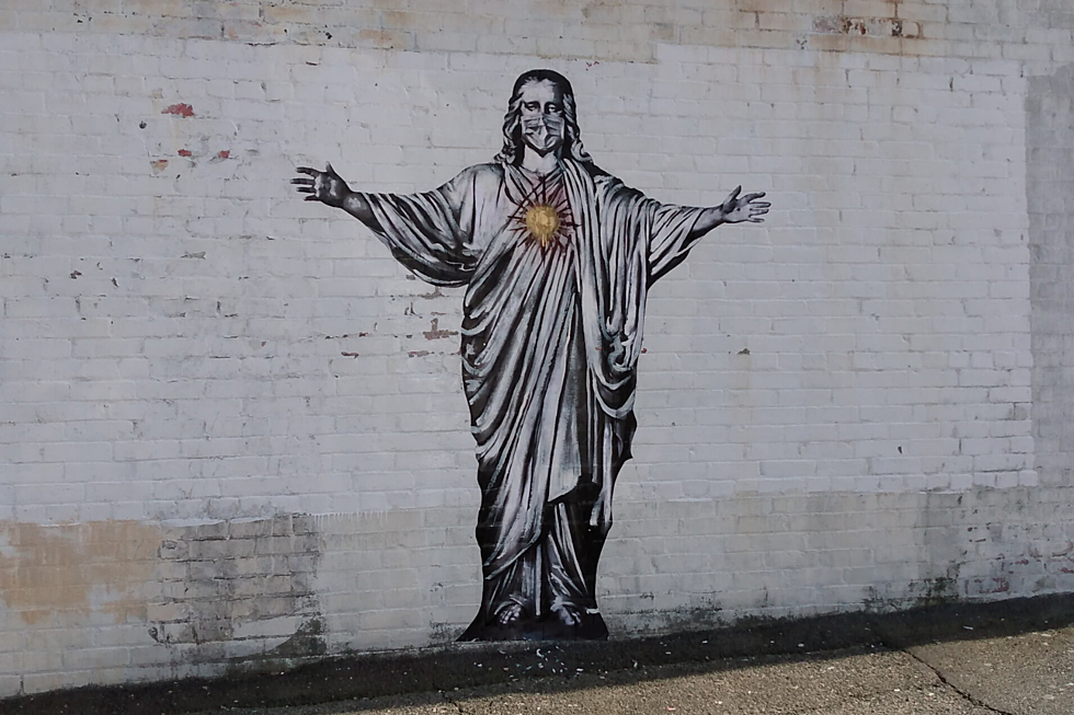 Painting of Jesus with Face Mask Suddenly Returns to New Bedford