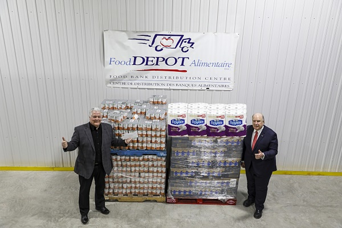 j d irving donates 1 million to food depot alimentaire j d irving donates 1 million to food