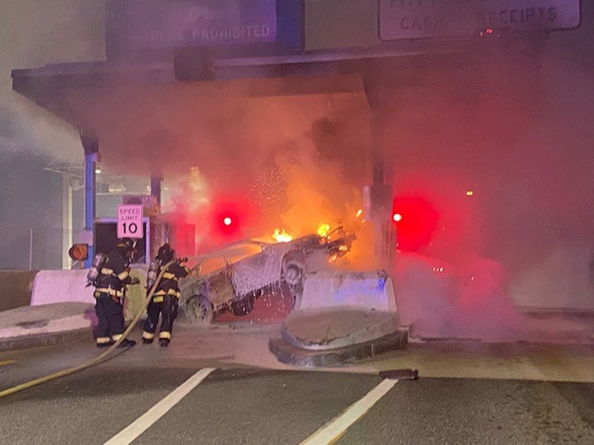 22-Year-Old Charged with OUI after Toll Booth Crash
