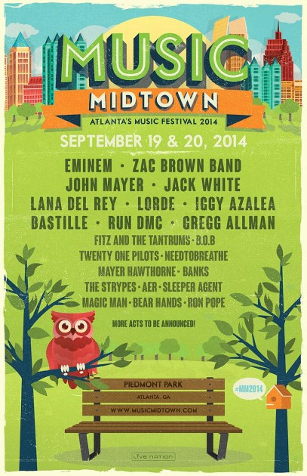 Atlanta's Music Midtown 2014 Lineup Announced