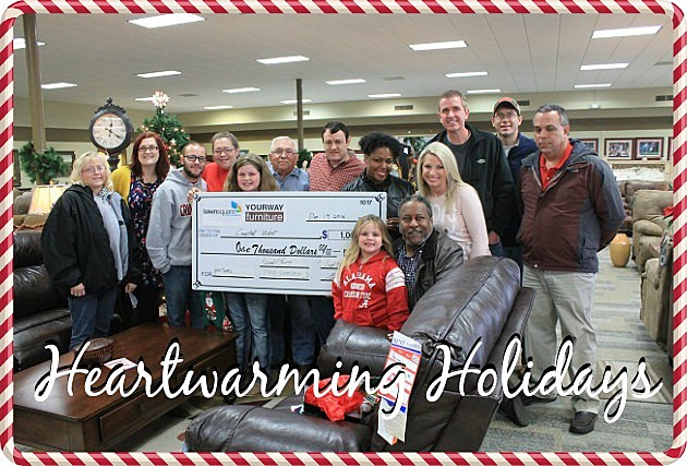 Local Family Receives 1 000 From Yourway Furniture And Townsquare Media Tuscaloosa S Heartwarming Holidays Photos Video