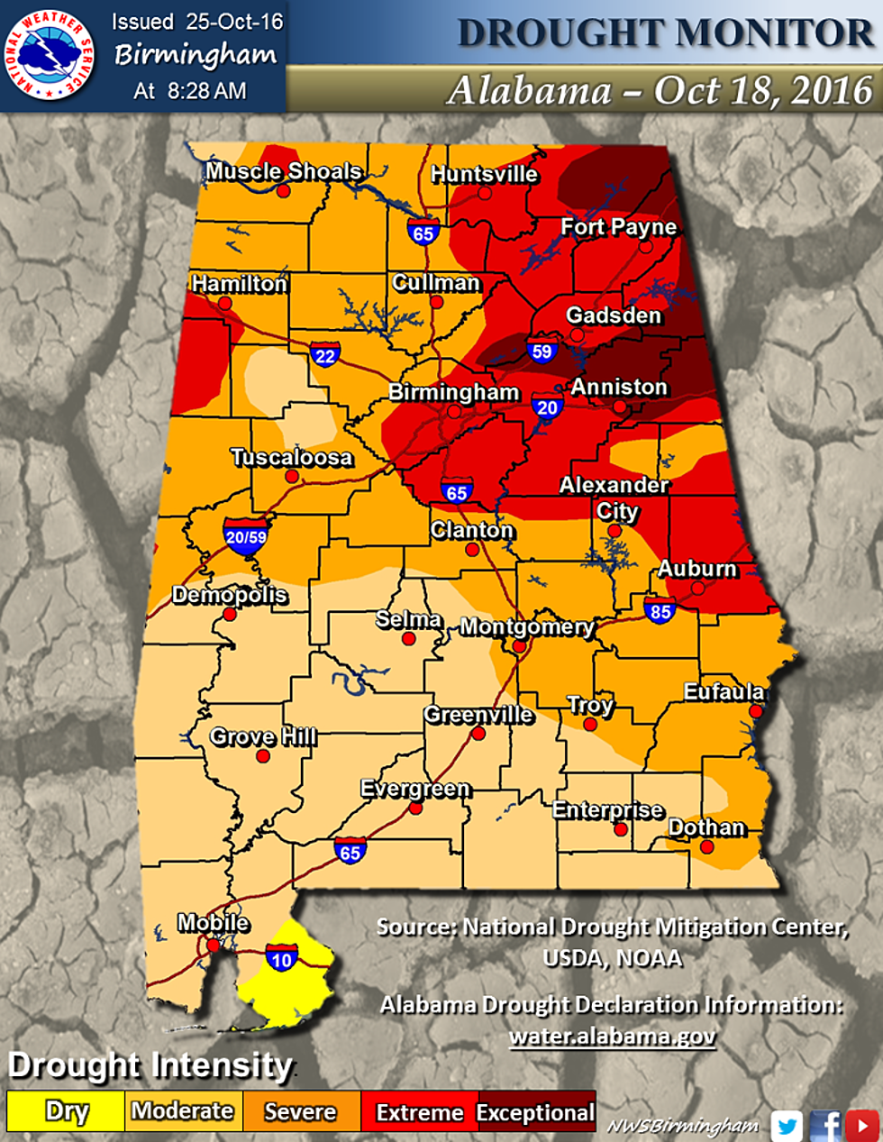 Severe Drought Conditions Continue In Tuscaloosa County and