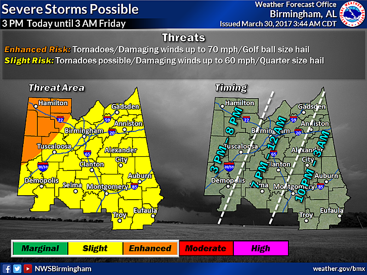 Severe Weather Outbreak Possible in Alabama Tomorrow [VIDEO]