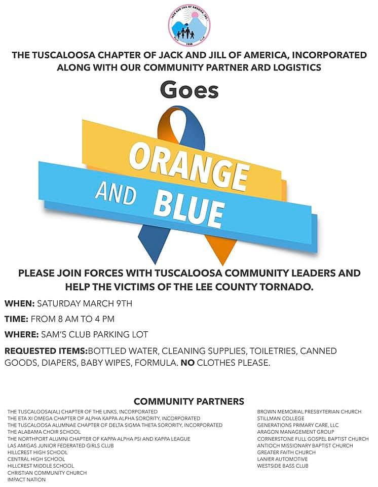 Jack And Jill Goes Orange And Blue For Tornado Recovery