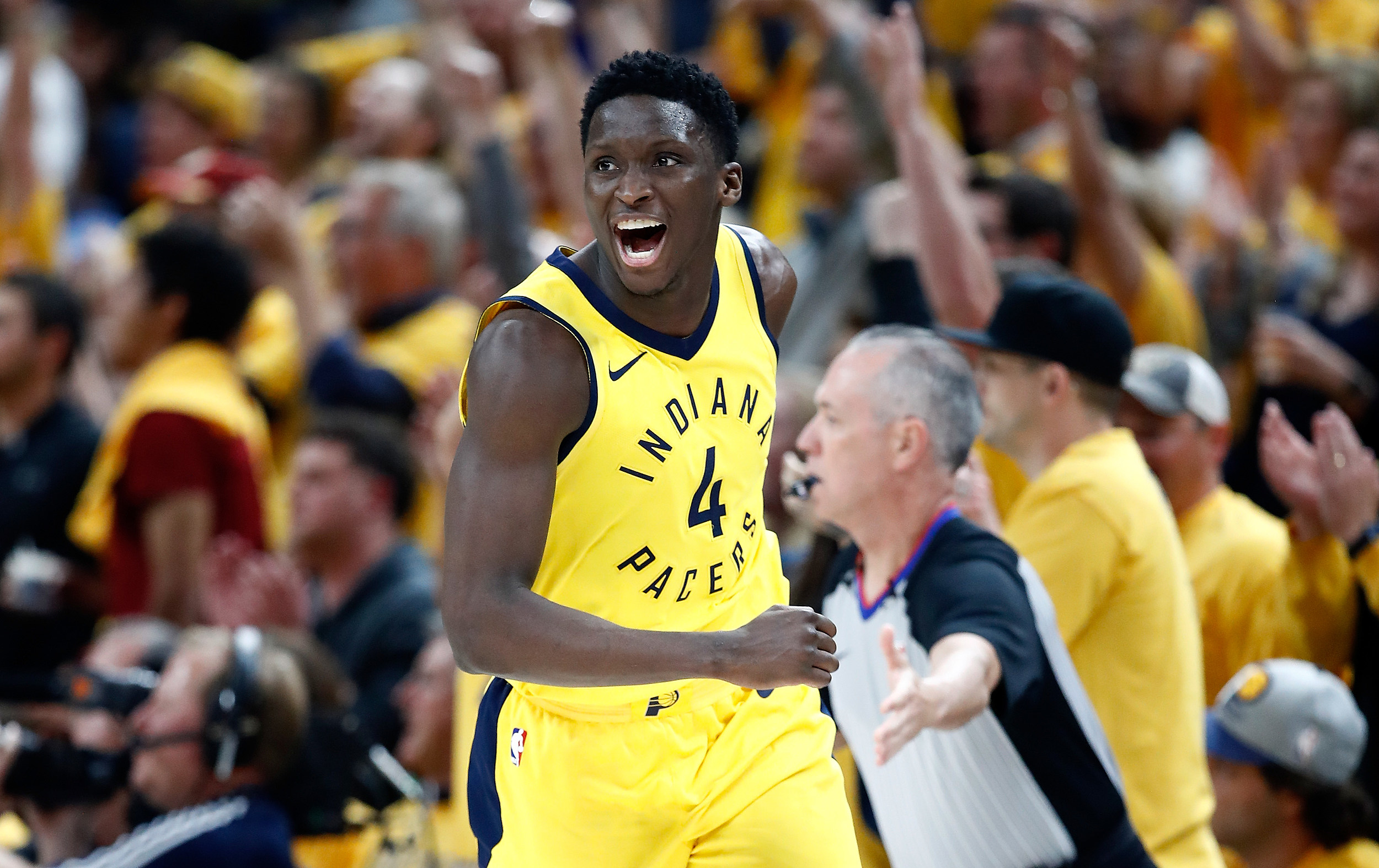 73b1bbc72fe Pace Car for Pacer: NBA's Victor Oladipo to Start Indy 500
