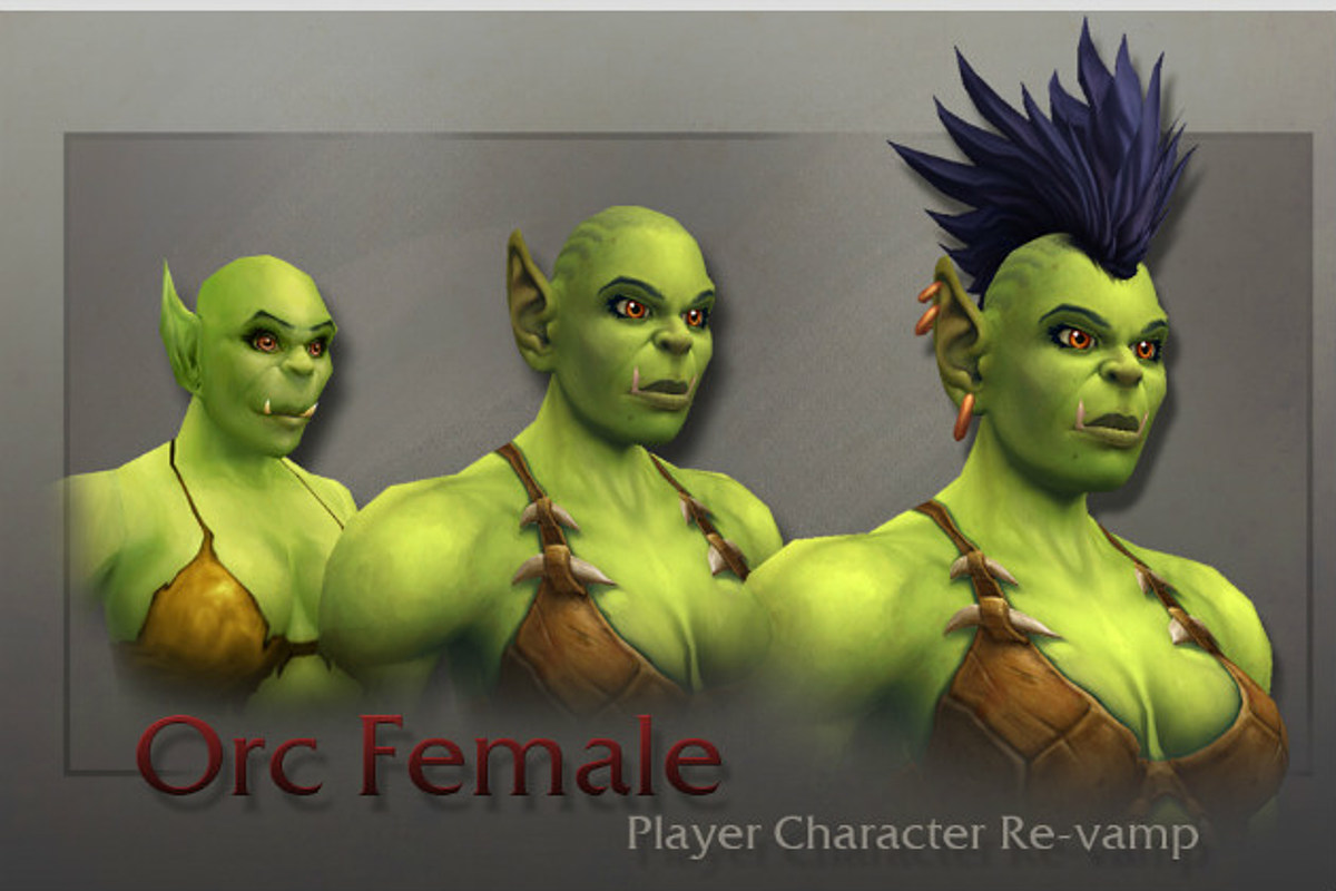Meet World Of Warcraft S New Female Orc Models The orc female mask is a wearable mask that can be worn by players at any level. female orc models
