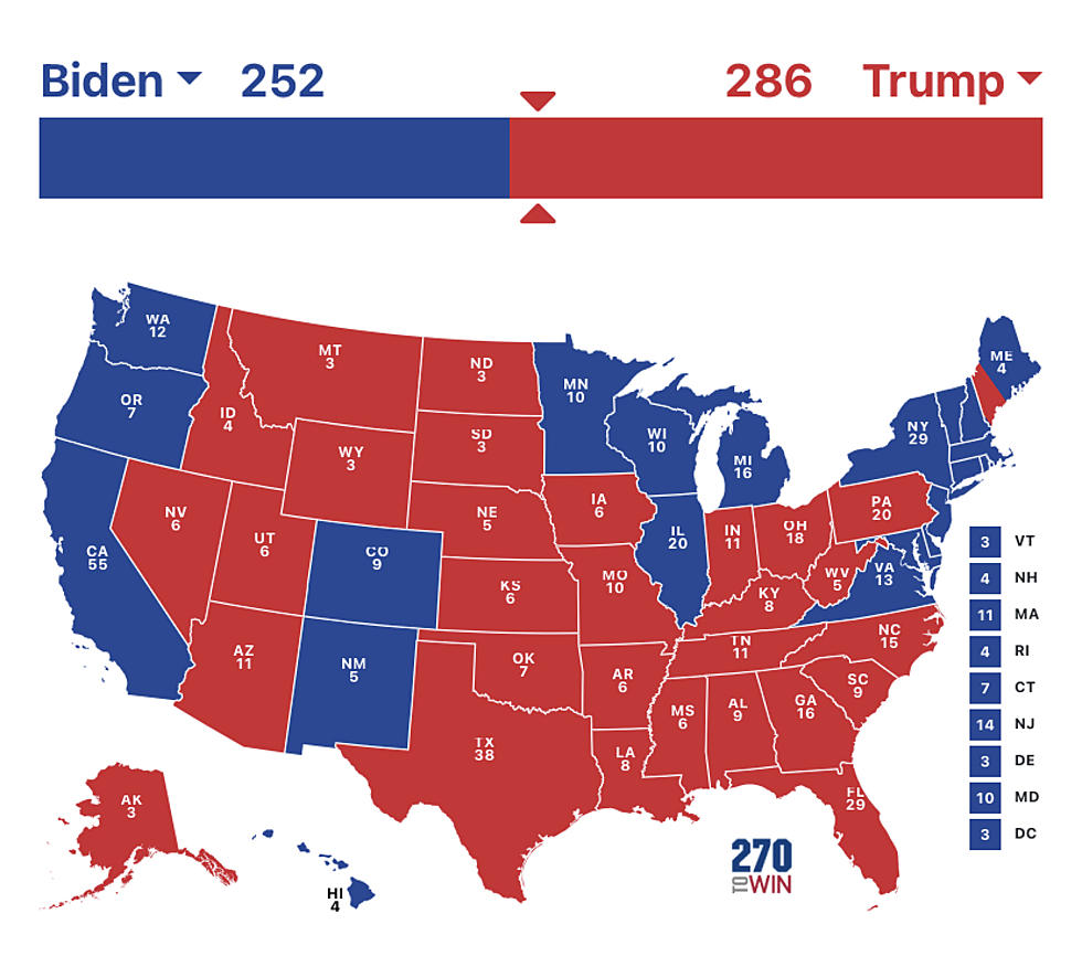 Us Map Of Electoral College Votes Hurley: Final Electoral College Trump V. Biden Map