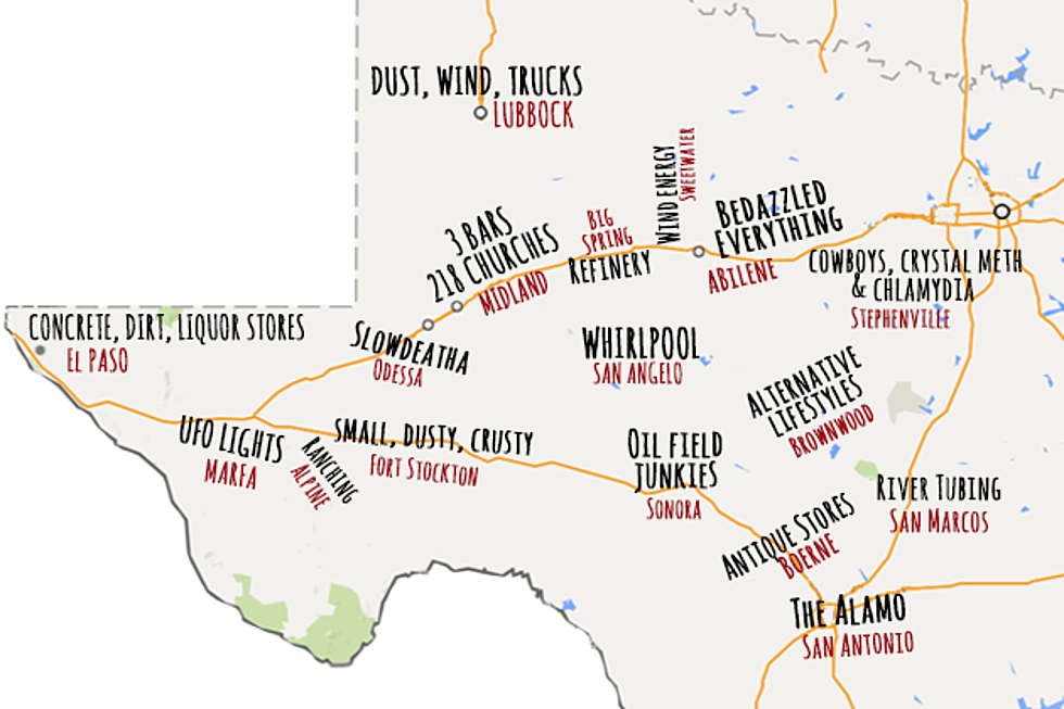 Map of West Texas, According to Urban Dictionary