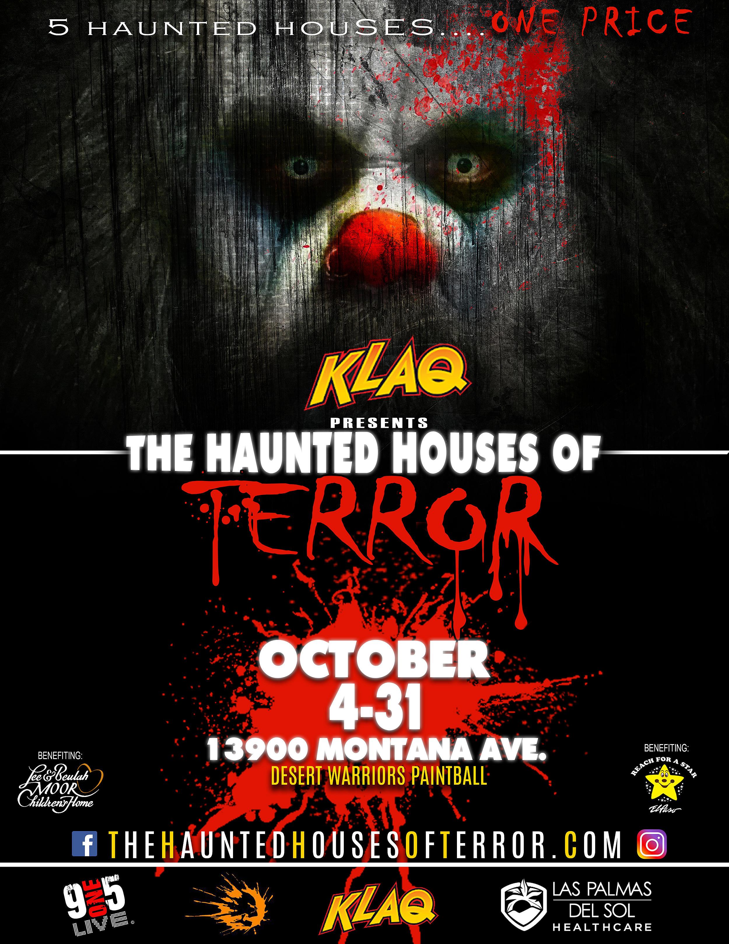 KLAQ Presents Haunted Houses of Terror