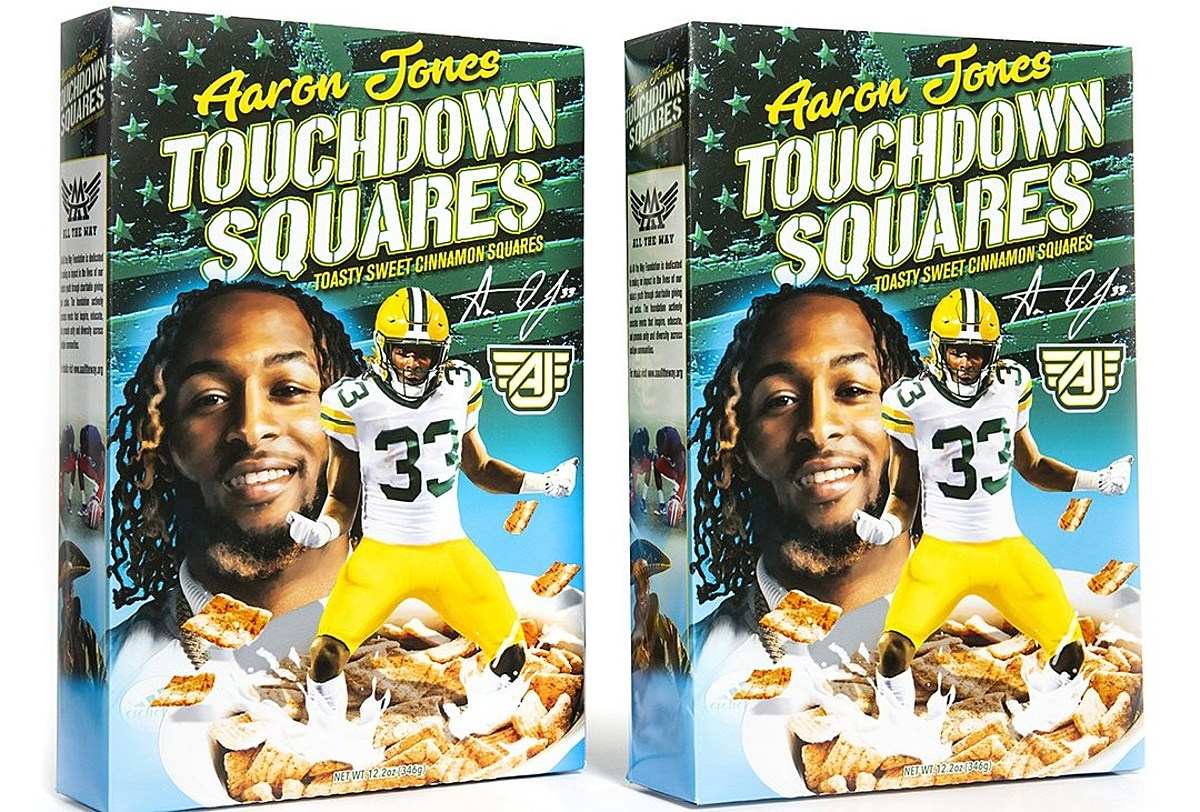 Aaron Jones Cereal Pay 10 For Touchdown Squares Or Pass