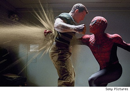Spider-Man fights Sandman