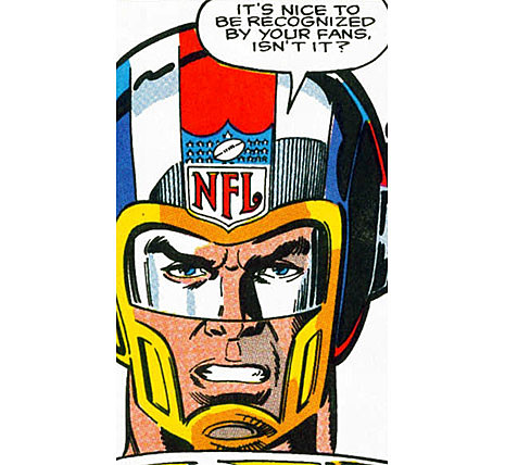 Happy Thanksgiving From NFL Superpro, the Football Superhero