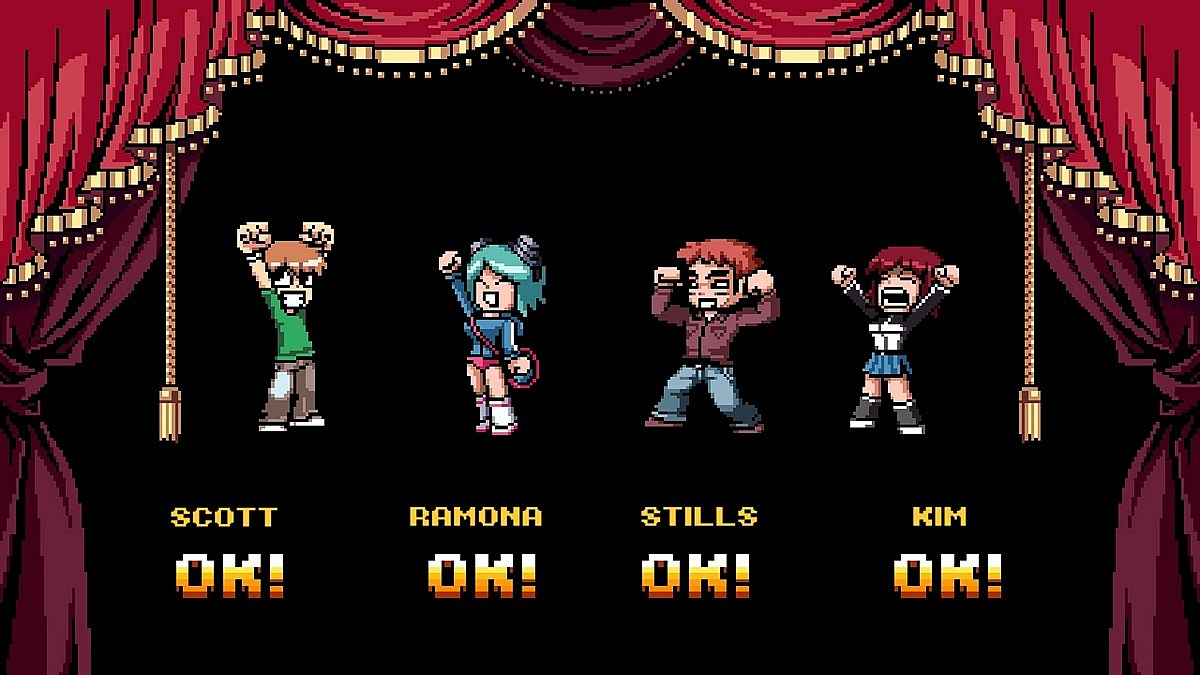 Scott Pilgrim Select Screen