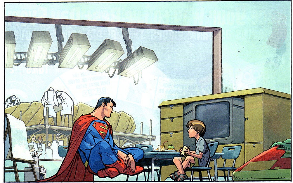 Dave Stewart colors Adam Kubert's Action Comics